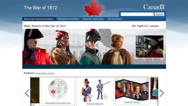 Government of Canada's War of 1812 website