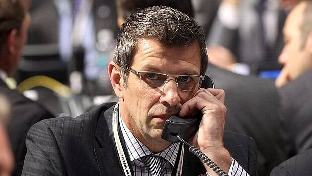 Marc Bergevin, seen at the 2012 NHL Draft, oversaw a Montreal team in his first year that improved from 15th to second in the conference.