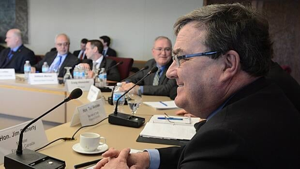 Finance Minister Jim Flaherty met with private sector economists in Ottawa on Friday. Their economic forecasts are used by Flaherty to finalize his upcoming budget.