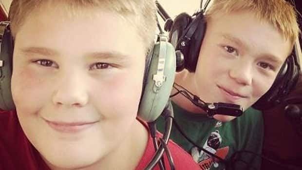 Logan (front) and Gage Spence, along with their father, Darren, and another child were killed in a plane crash near Waskada, Man., on Feb. 10, 2013.