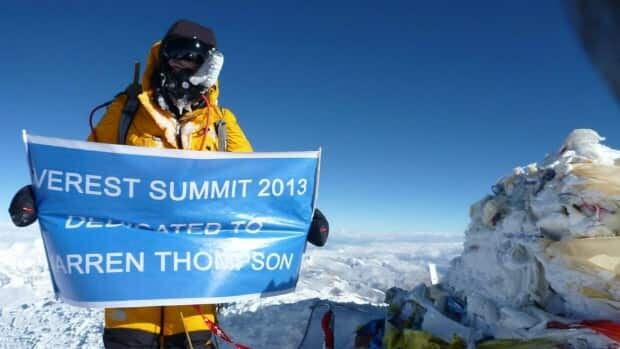 Saskatoon's Steve Whittington on top of the world. He recently climbed Mount Everest.
