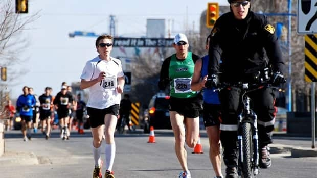 People participating in the 2012 Saskatoon police half marathon.