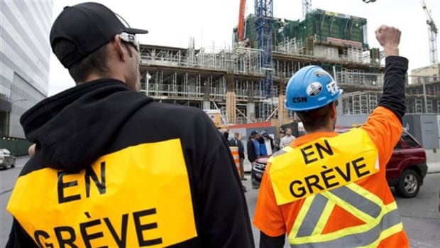 Quebec construction workers remain off the job for the thirteenth day of striking, but they could soon be forced back to work.