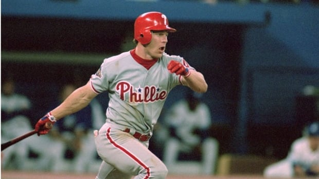Lenny Dykstra hit .348 with four home runs in the 1993 World Series against the Toronto Blue Jays.