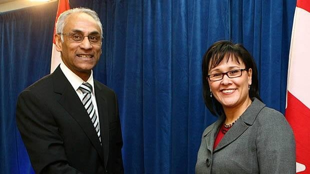 Health Minister Leona Aglukkaq (right), seen with Richard Alvarez, CEO of Canada Health Infoway in 2009, announced $500 million in funding four years ago to improve the implementation of electronic medical record systems, but the funding was held back for a year until the government received more information about how it would be spent.