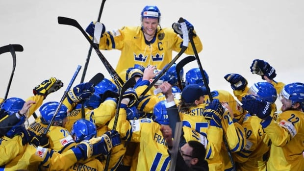 Sweden is the first team to win the world hockey championship at home since the Soviet Union in 1986.