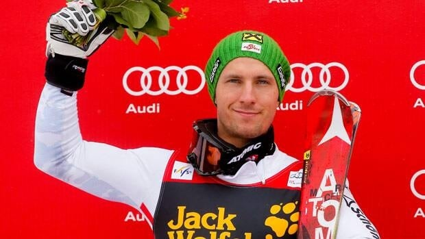 Marcel Hirscher of Austria, seen after racing March 10, was unlikely to be caught before the official announcement that Askel Lund Svindal won't race Sunday.