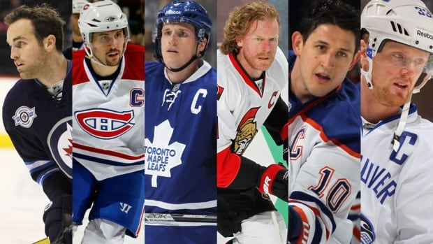 These are the current captains of the six Canadian-based teams that have designated one for this season. Can you name them?
