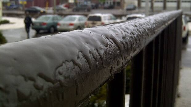 Freezing rain coated Charlottetown in ice Wednesday morning.