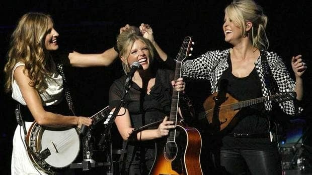 Dixie Chicks (from left: Emily Robison, Natalie Maines and Martie Maguire) are seen performing in 2007. They'll headline a concert in Calgary during the 2013 Stampede.