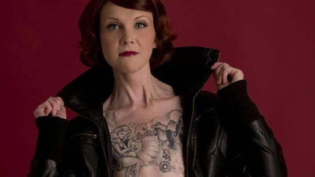 "Kelly Davidson tattooed her chest following a double mastectomy to show ""my transformation, my metamorphosis."""