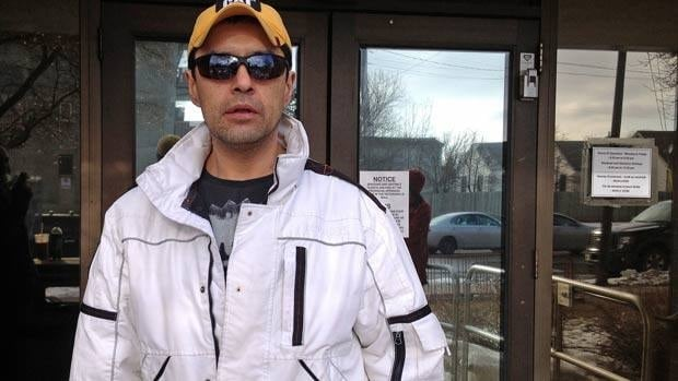 Gary Megan, who says he was assaulted by an OPP officer in a Geraldton jail cell, was among about 50 people who packed the courtroom on Thursday to hear a jail guard testify.