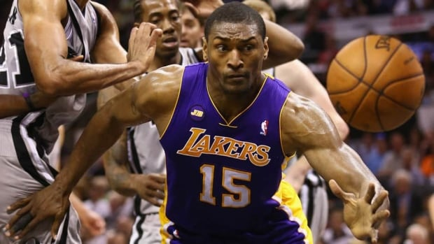 Metta World Peace has averaged 14.1 points and 4.7 rebounds per game in 14 NBA seasons.