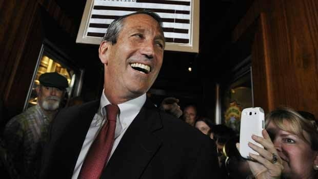 Former South Carolina governor Mark Sanford arrives to give his victory speech on in Mt. Pleasant, S.C. Sanford won back his old congressional seat in the state's 1st District in a special election.
