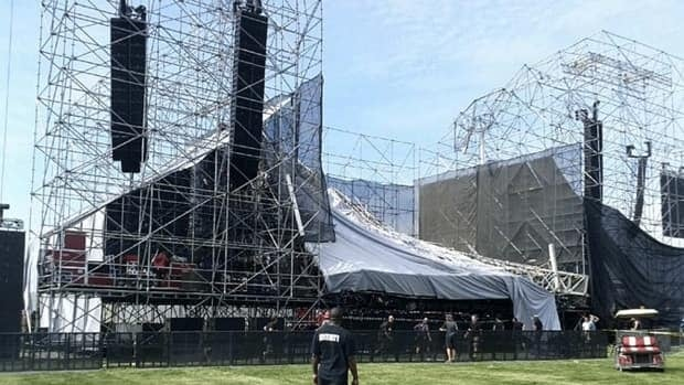 A stage collapsed at Toronto's Downsview Park last June, killing one man and injuring three others, hours before the U.K. band Radiohead was to play in front of a sold-out crowd.