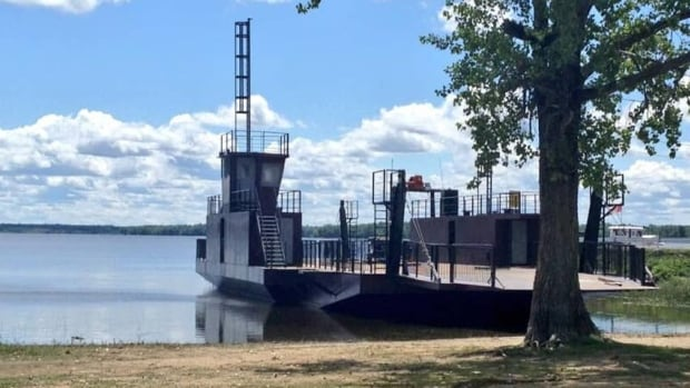 The Quyon ferry will soon be run on a cable. The new ferry was being moved Thursday when Harold McKenny's right forearm was severed.