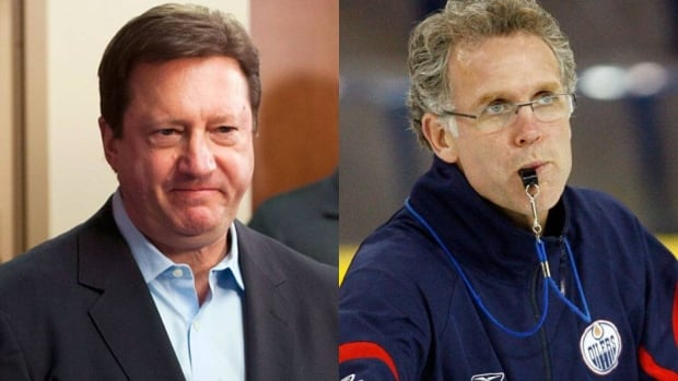 The Edmonton Oilers officially severed ties with Steve Tambellini, left, on Monday, and named Craig MacTavish, right, as his successor.