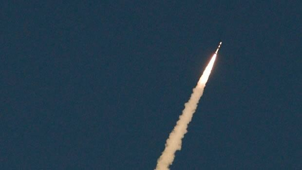 India's Polar Satellite Launch Vehicle blasted off from Satish Dhawan Space Centre on the island of Sriharikota, off India's east coast near Chennai, at 7:31 a.m. ET Monday .