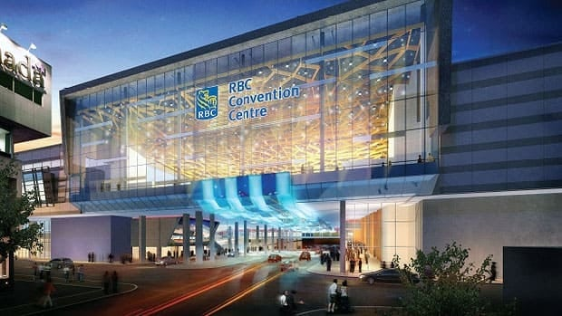 Winnipeg's convention centre will double in size and extend above York Avenue as part of the $181-million expansion and renovation.