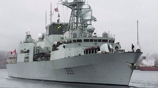 HMCS Toronto left Halifax in January, carrying 225 sailors.