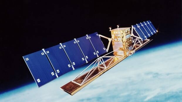 Radarsat-1, shown in an artist's conception, is owned and operated by the Canadian Space Agency, unlike Radarsat-2, which is owned and operated by MacDonald Dettwiler and Associates Ltd.