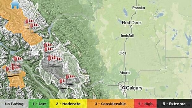 Parks Canada has issued an avalanche warning for Banff, Kootenay and Yoho national parks.