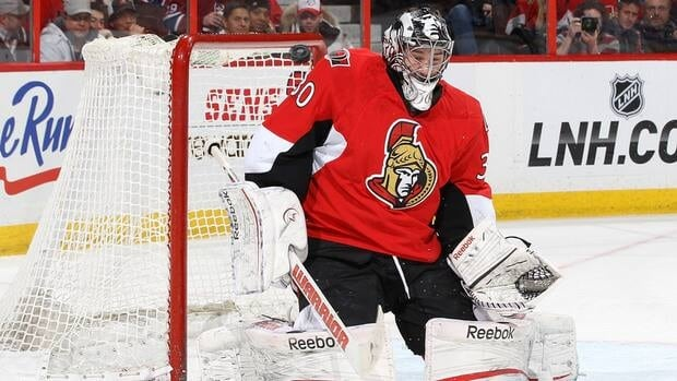 Ottawa Senators goalie Ben Bishop turned away 44 shots against the Montreal Canadiens Monday at Scotiabank Place.