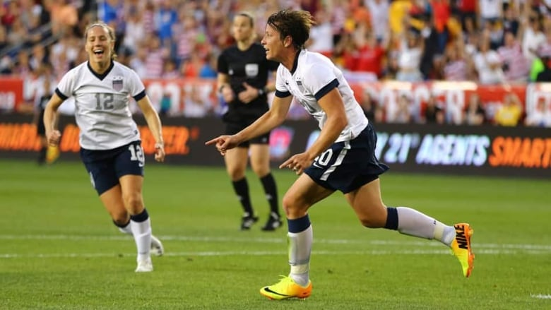 94094703c20 Abby Wambach (20) celebrates after scoring her 159th international goal in  a friendly against South Korea on Thursday in Harrison, N, J. (Al  Bello/Getty ...