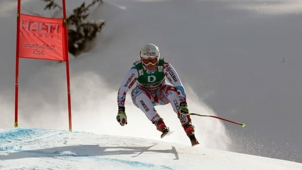 France's Marion Rolland speeds down the course on his way to win the women's downhill, at the Alpine skiing world championships in Schladming, Austria on Sunday.
