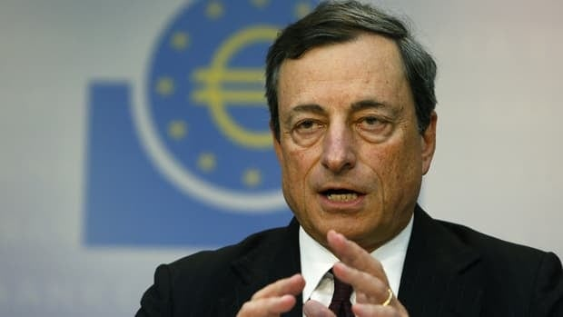 European Central Bank president Mario Draghi announced Thursday that the bank would continue to keep interest rates at record lows to combat the recession that persists in the eurozone.