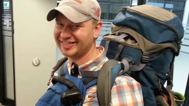 Dana Meise, who has been hiking across the country for the past five years, had his gear destroyed on the Onion Lake Cree Nation.
