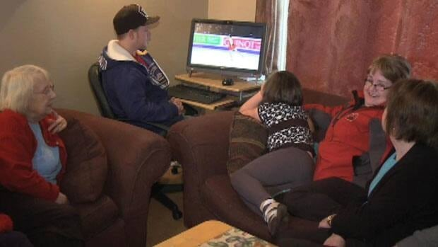 Relatives of Kaetlyn Osmond gather in Marystown to watch the young figure skater perform.