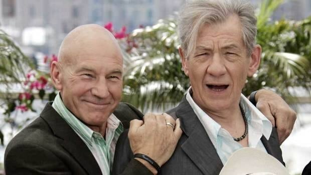 British actors Patrick Stewart, left, and Ian McKellen are to share a Broadway stage in two 20th century plays, No Man's Land and Waiting for Godot.