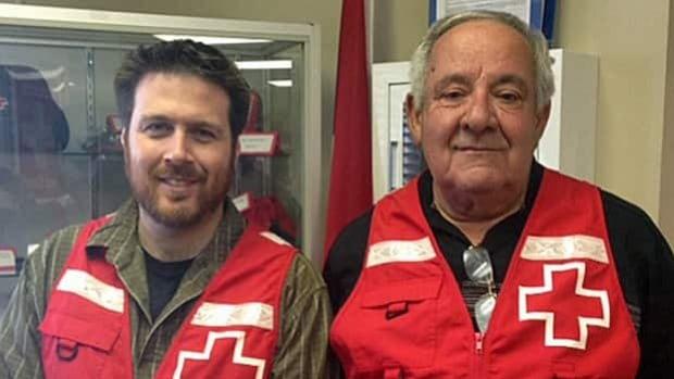 David St. Georges and Ted Giannini of Sudbury's Red Cross say more volunteers are needed with the upcoming forest fire season.
