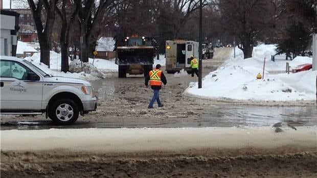 Traffic was backed up in the area of Horace Street and St. Mary's road for a watermain break.