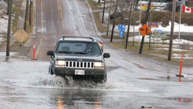 Highway 114 and surrounding low-lying areas in Hillsborough were flooded again on Thursday.