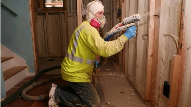 An expandable foam installation into the walls to line a home. Professional exterminators say the foam material could be to blame for a rise in termite infestations.