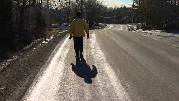 RCMP are searching for a hit-and-run driver after an elderly couple was clipped by a passing vehicle on Lakewood Drive.