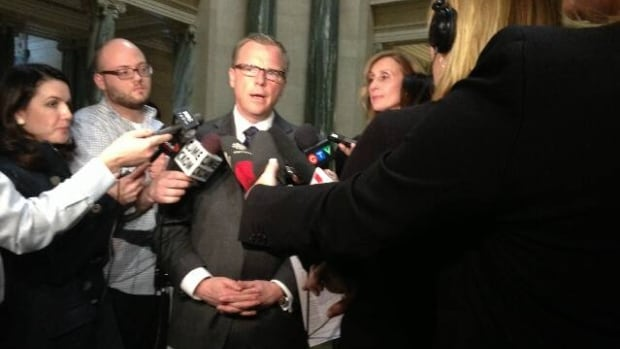 Premier Brad Wall talks to reporters about appointing 10 new legislative secretaries, as well as traffic safety in the province.