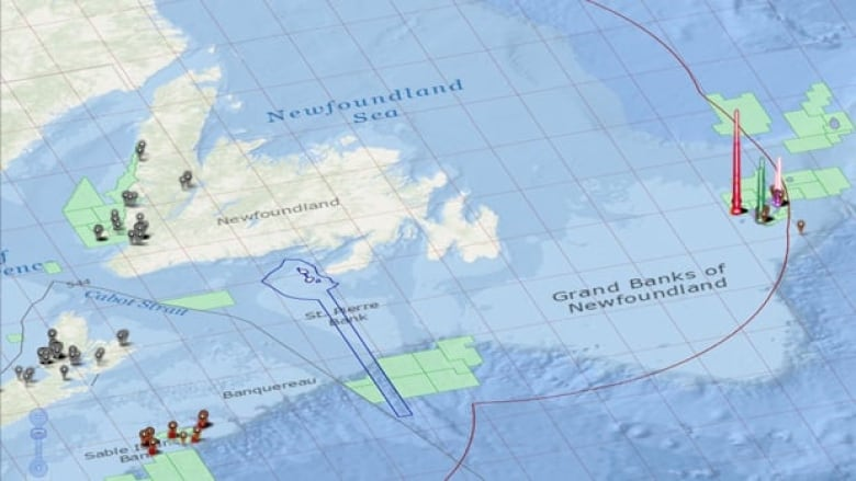 Map Of The East Coast Of Canada.Noia Unveils Interactive East Coast Exploration Map Cbc News