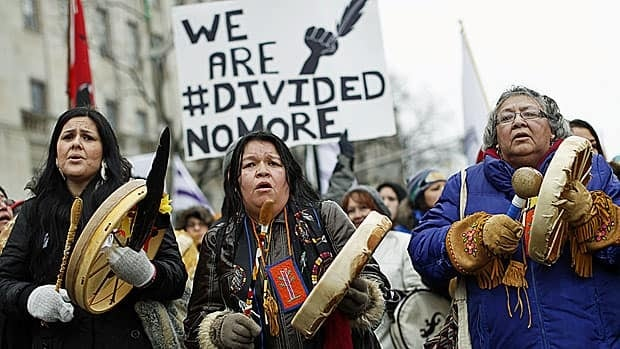 First Nations protestors march on Parliament Hill on Friday as deep divisions grew between aboriginal leaders.