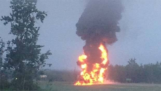A crash between a small car and fuel tanker resulted in an explosion early Monday morning.