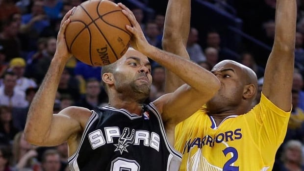 San Antonio Spurs' Tony Parker, left, will be out of action for about a month.