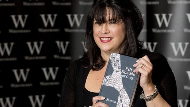 E L James, author of Fifty Shades of Grey, poses for photographers during a book signing in London Sept. 6, 2012.