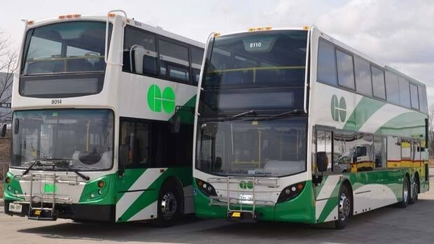 The Ontario government says it's adding 25 new double-decker buses that will begin servicing routes 34 additional GO Transit routes before the end of May.