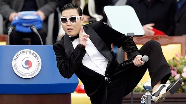 South Korean rapper PSY, seen in February performing South Korean President Park Geun-hye's inauguration ceremony in Seoul, plans to release his follow-up to the blockbuster Gangnam Style in April.
