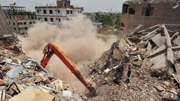 More than 1,100 people died when the Rana Plaza building collapsed in Bangladesh on April 24.