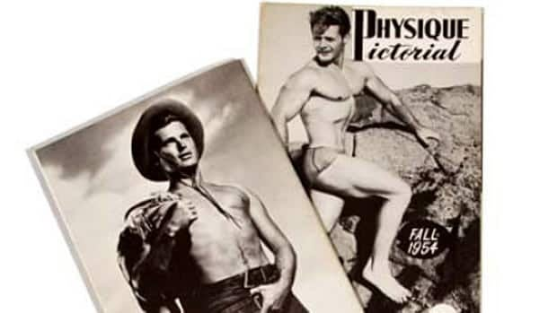 Los Angeles photographer Bob Mizer advertised Physique Pictorial for bodybuilding and wrestling enthusiasts, but Canadian and U.S.A censors were not fooled.