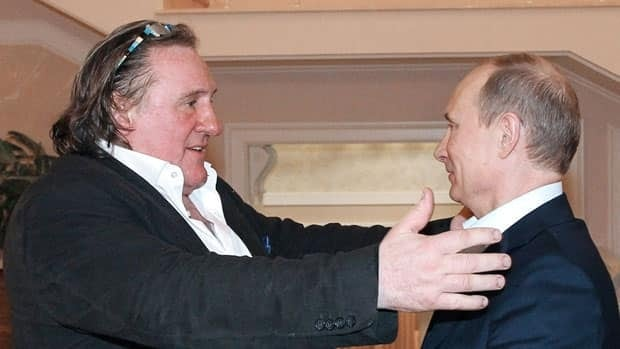 Gérard Depardieu was presented with Russian citizenship and a passport by President Vladimir Putin, right, in January, allowing the actor to avoid paying a 75 per cent tax the French government wanted to impose on the rich.