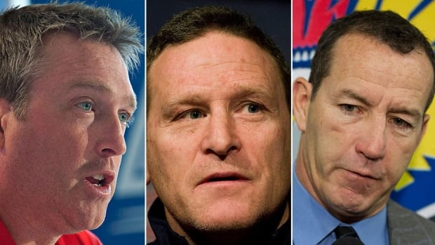 Will newly hired Colorado Avalanche head coach Patrick Roy, left, be more Kevin Dineen, right, in his first season as an NHL head coach or more Randy Cunneyworth, middle. Dineen guided Florida to a 94-point season in 2011-12, while Cunneyworth was a disappointing 18-23-9 in the same campaign.